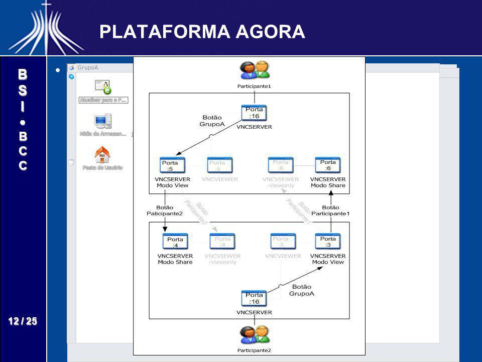 PLATAFORMA AGORA Para o usuário a conexão dos desktops ocorre de forma transparente.