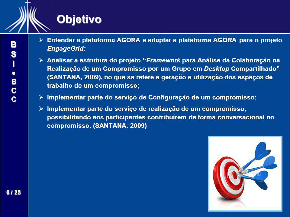 Objetivo Entender a plataforma AGORA e adaptar a plataforma AGORA para o projeto EngageGrid;