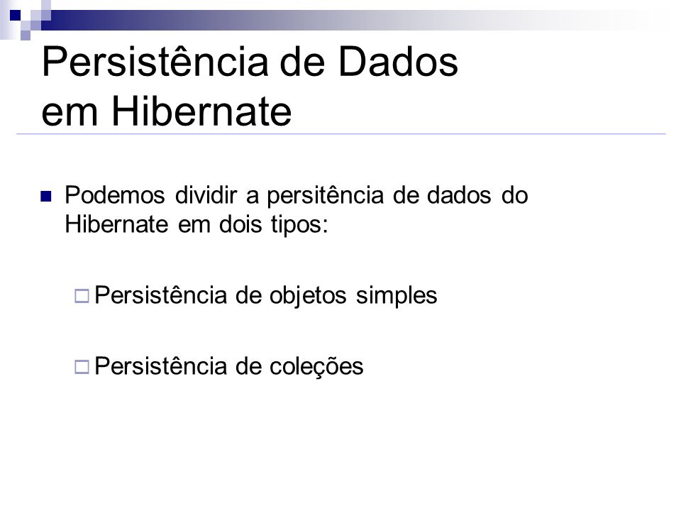 Persistência de Dados em Hibernate