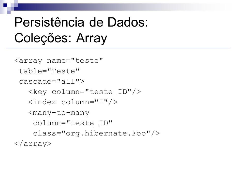 Persistência de Dados: Coleções: Array