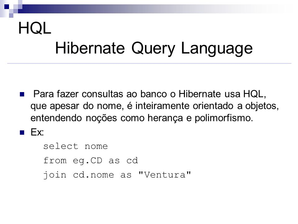 HQL Hibernate Query Language