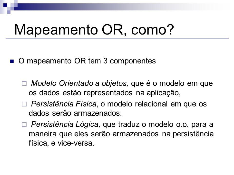 Mapeamento OR, como O mapeamento OR tem 3 componentes
