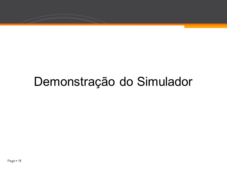 Demonstração do Simulador