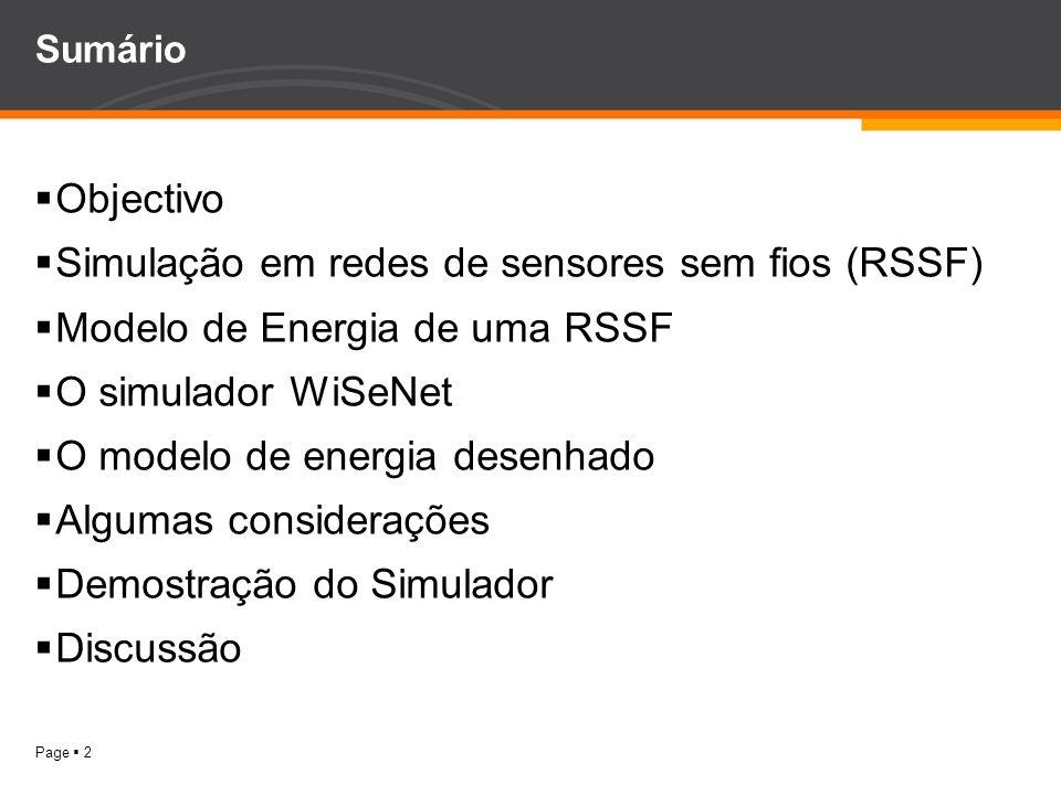 Simulação em redes de sensores sem fios (RSSF)