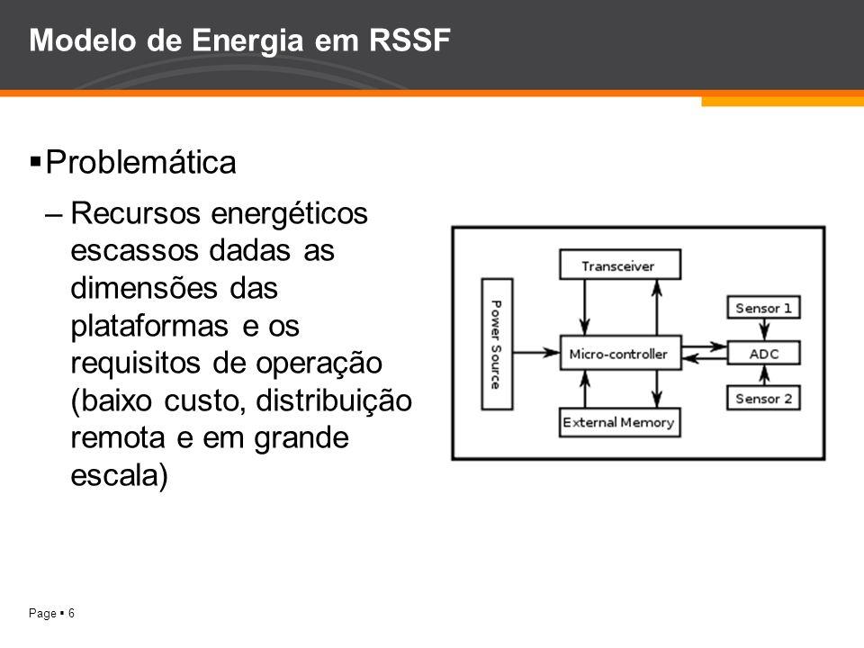 Modelo de Energia em RSSF