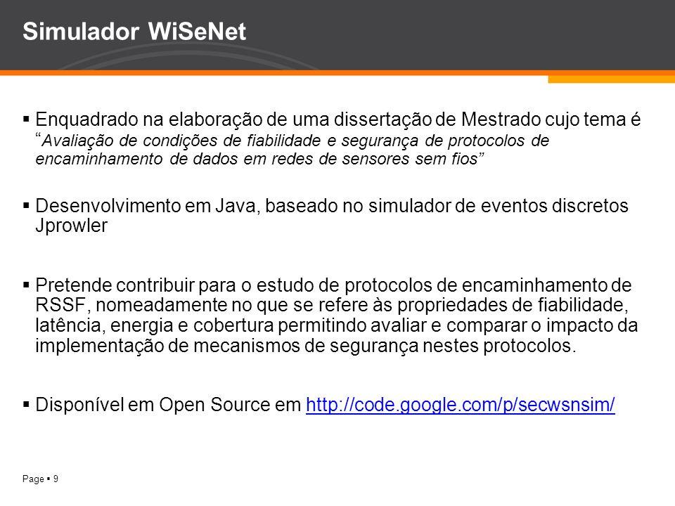 Simulador WiSeNet