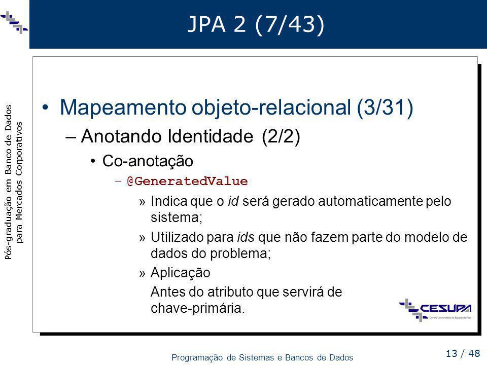 Mapeamento objeto-relacional (3/31)