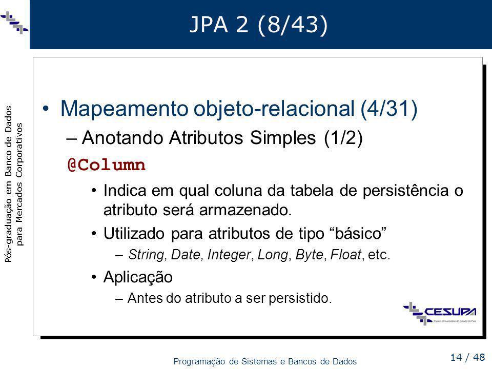 Mapeamento objeto-relacional (4/31)