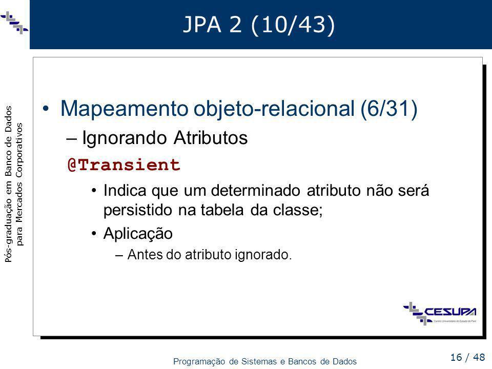 Mapeamento objeto-relacional (6/31)