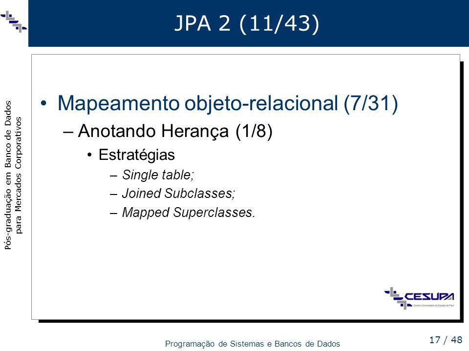 Mapeamento objeto-relacional (7/31)