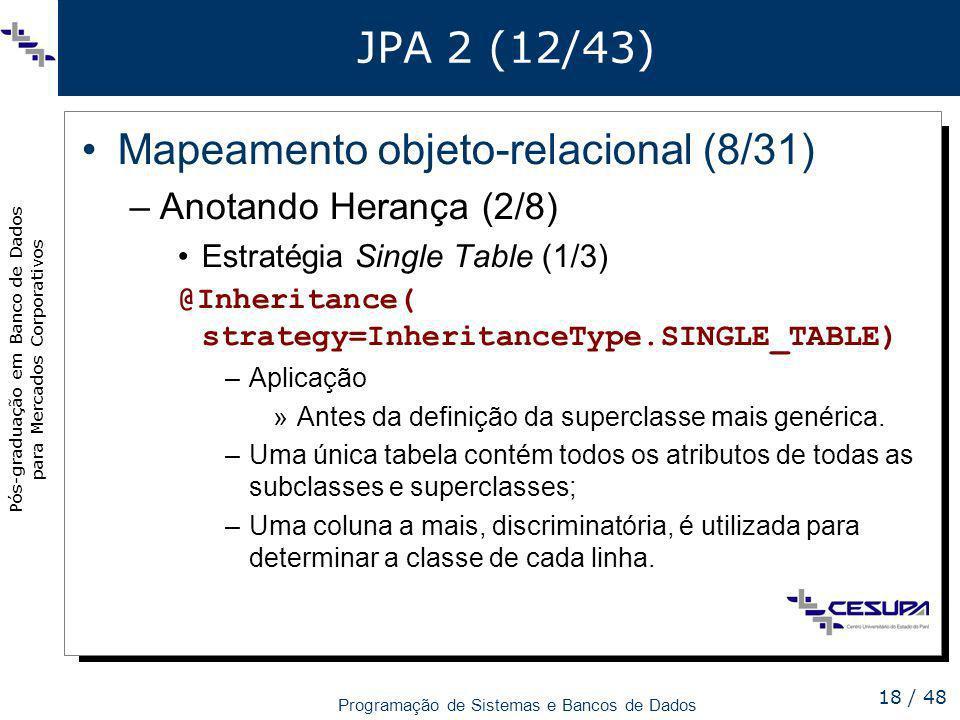 Mapeamento objeto-relacional (8/31)