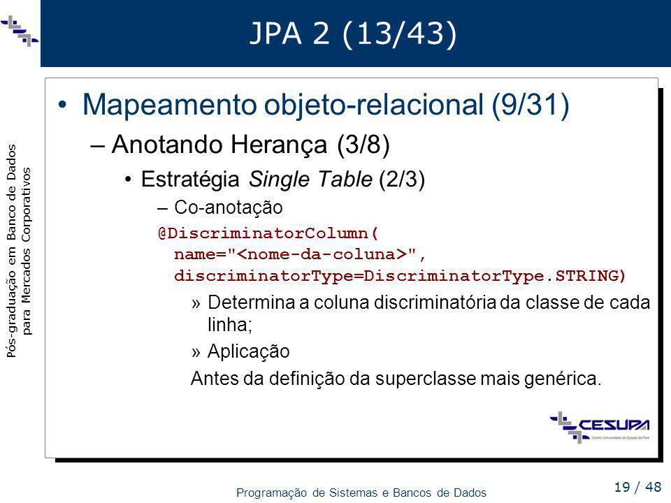 Mapeamento objeto-relacional (9/31)