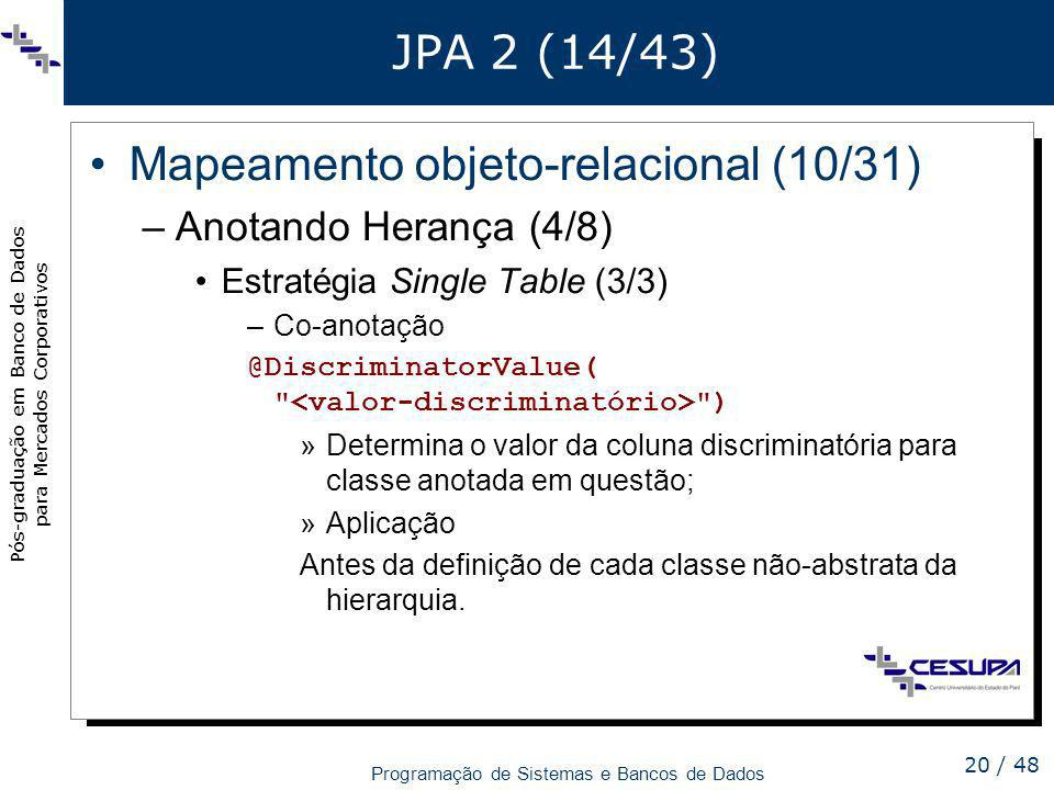 Mapeamento objeto-relacional (10/31)