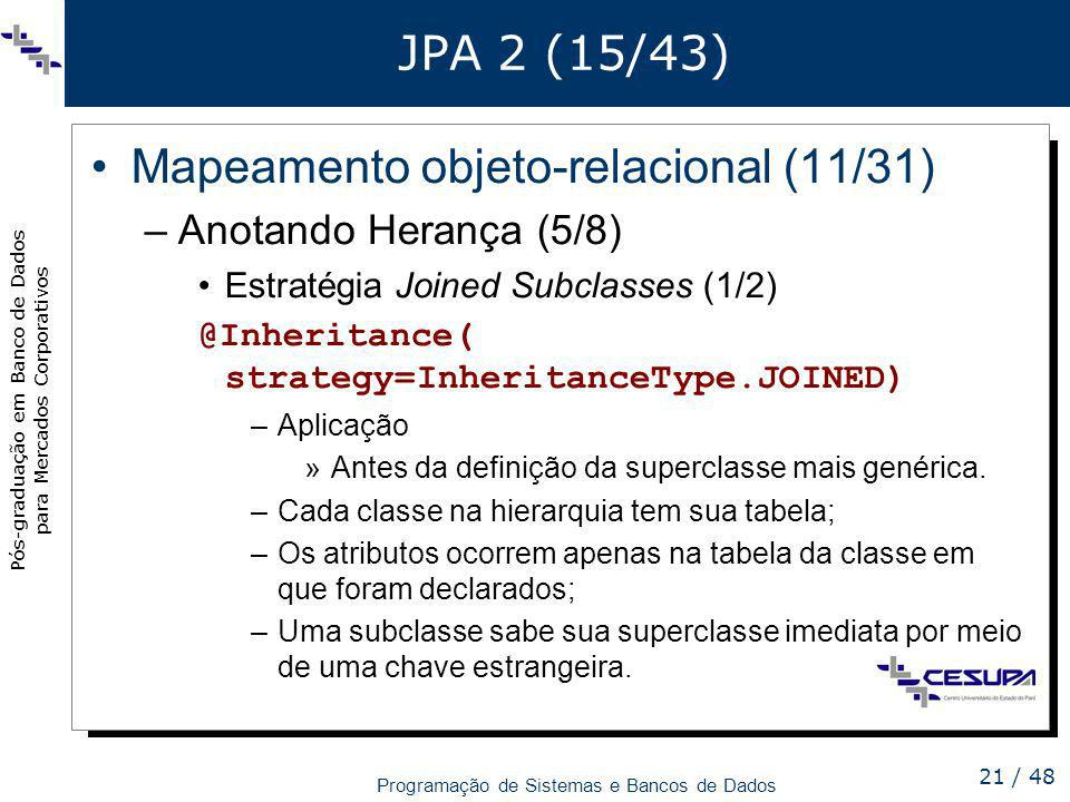 Mapeamento objeto-relacional (11/31)