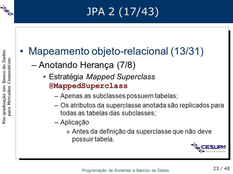 Mapeamento objeto-relacional (13/31)