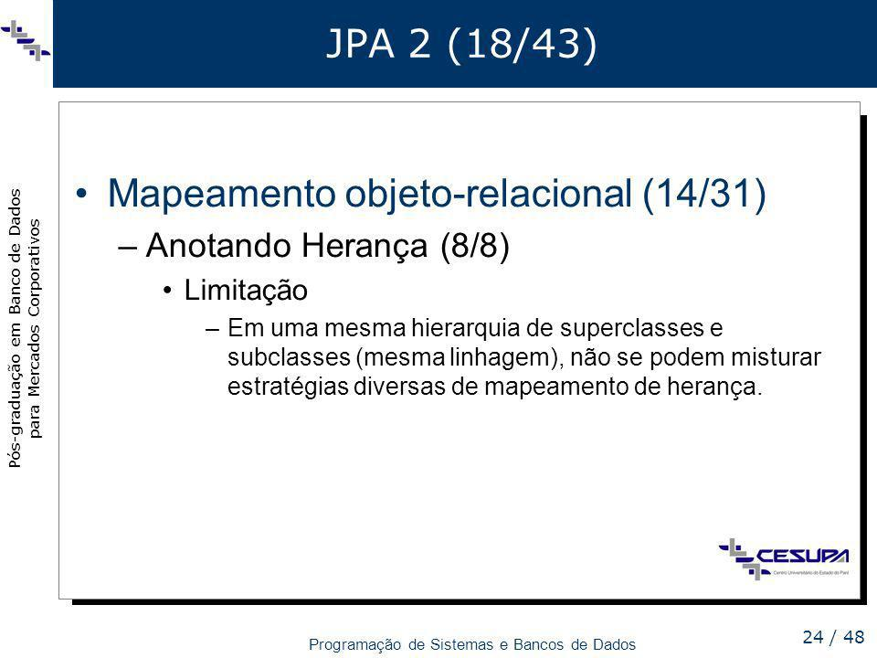 Mapeamento objeto-relacional (14/31)