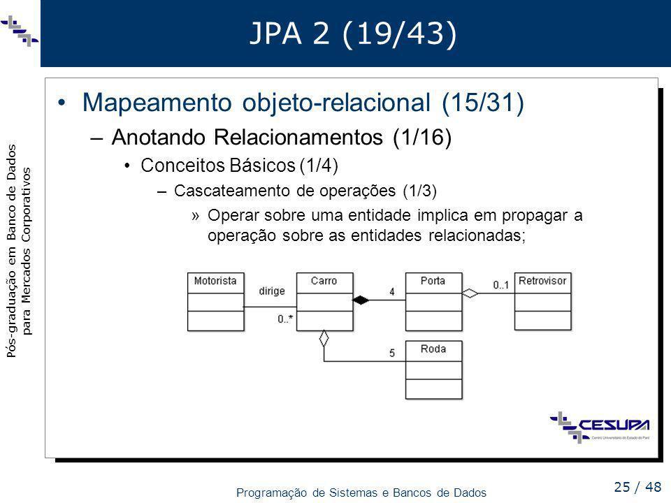 JPA 2 (19/43) Mapeamento objeto-relacional (15/31)