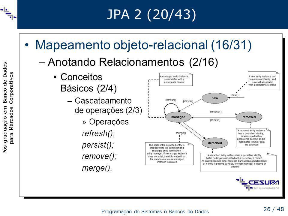 Mapeamento objeto-relacional (16/31)