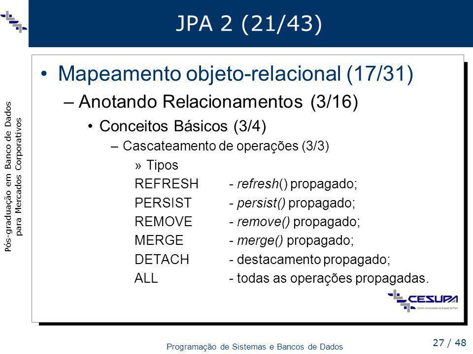 Mapeamento objeto-relacional (17/31)