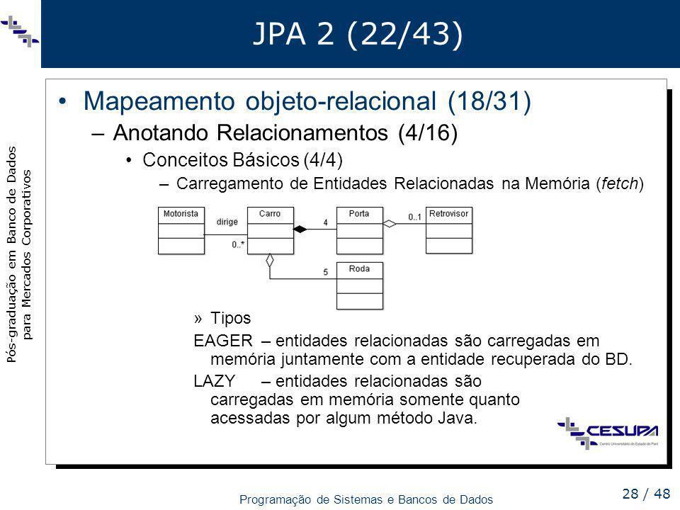 JPA 2 (22/43) Mapeamento objeto-relacional (18/31)