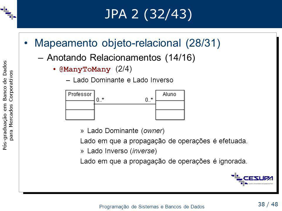JPA 2 (32/43) Mapeamento objeto-relacional (28/31)