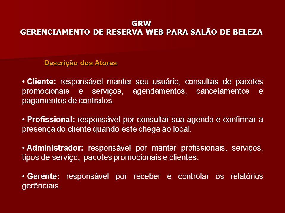 Gerente: responsável por receber e controlar os relatórios gerênciais.
