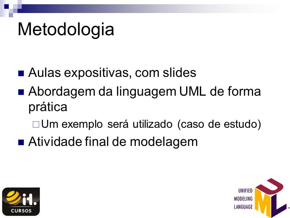 Metodologia Aulas expositivas, com slides