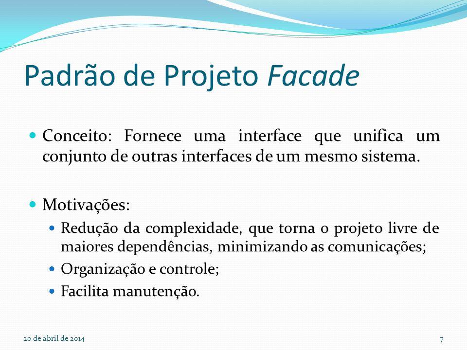 Padrão de Projeto Facade
