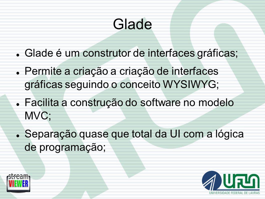 Glade Glade é um construtor de interfaces gráficas;