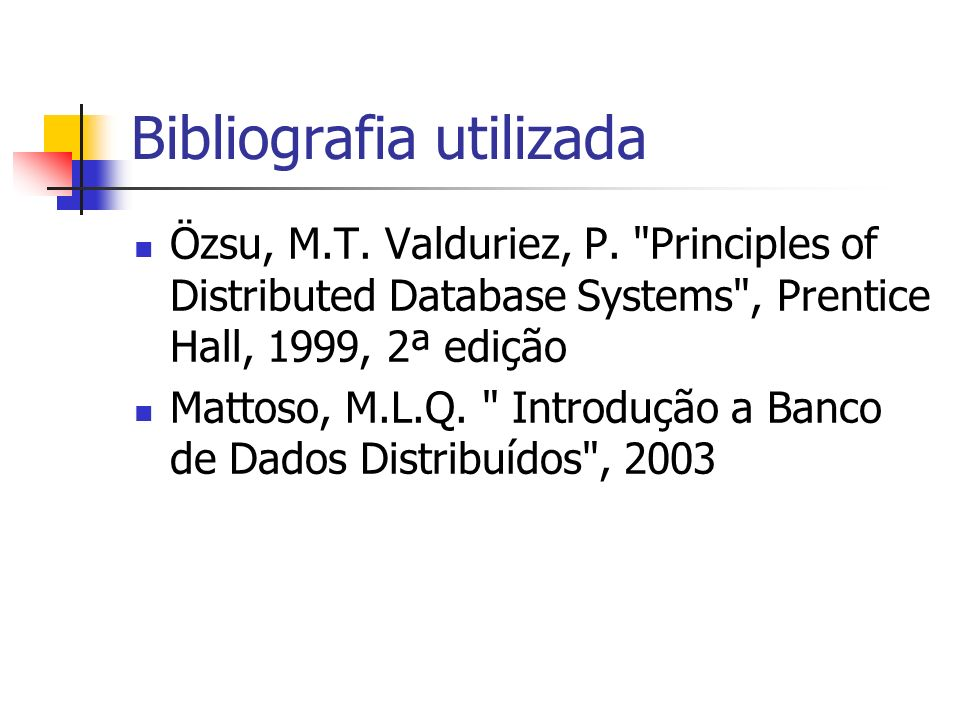 Bibliografia utilizada