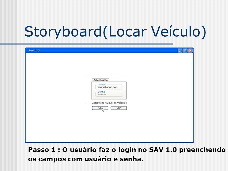 Storyboard(Locar Veículo)