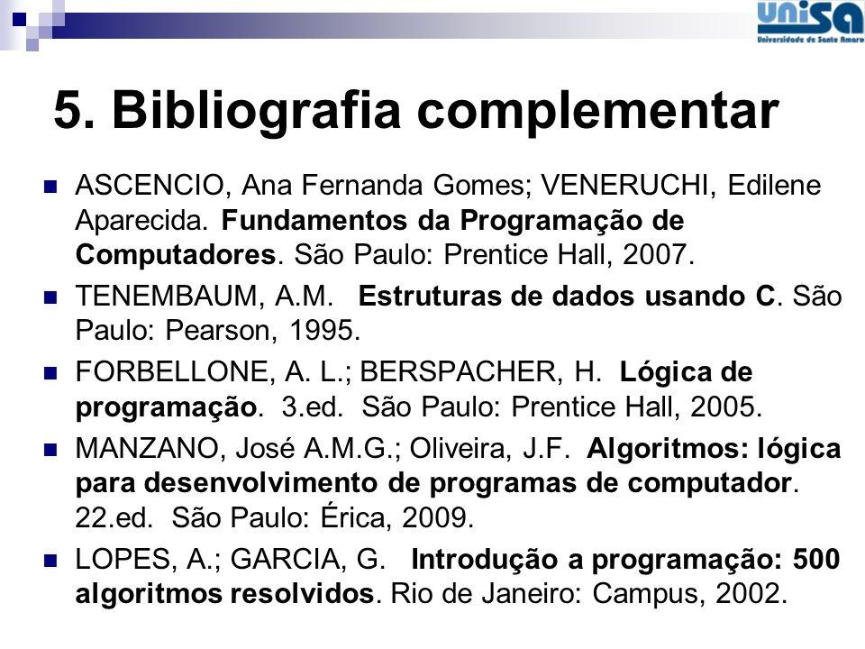5. Bibliografia complementar