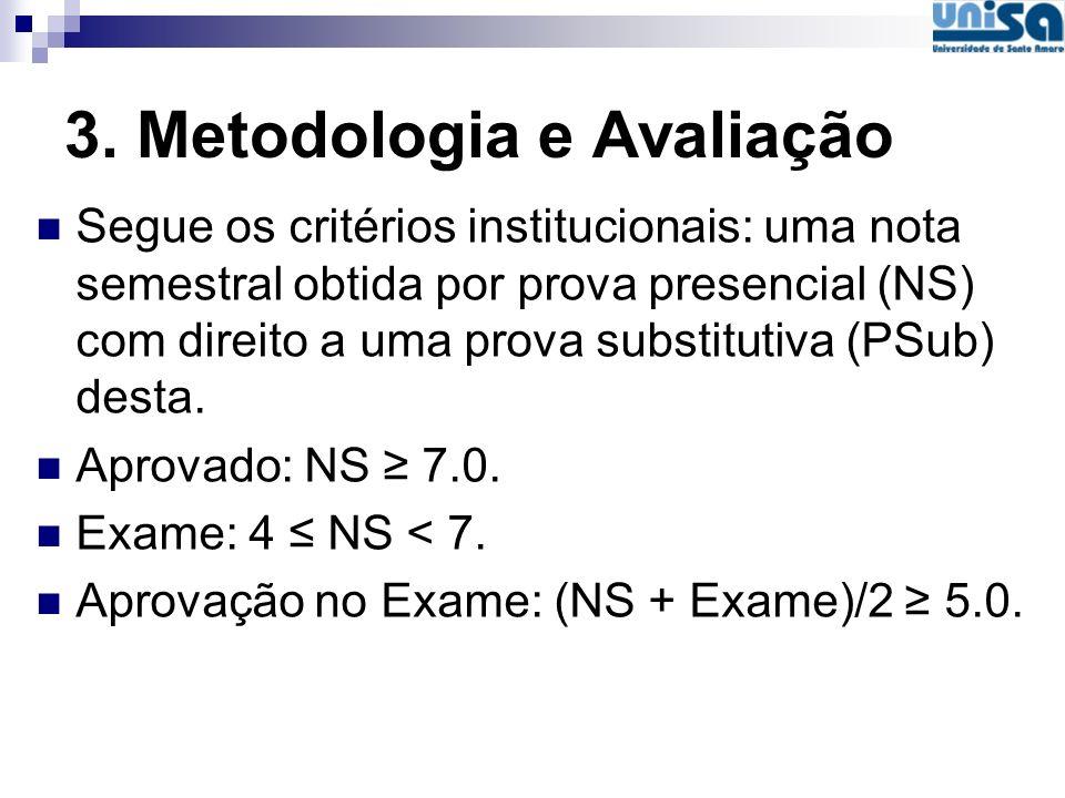 3. Metodologia e Avaliação