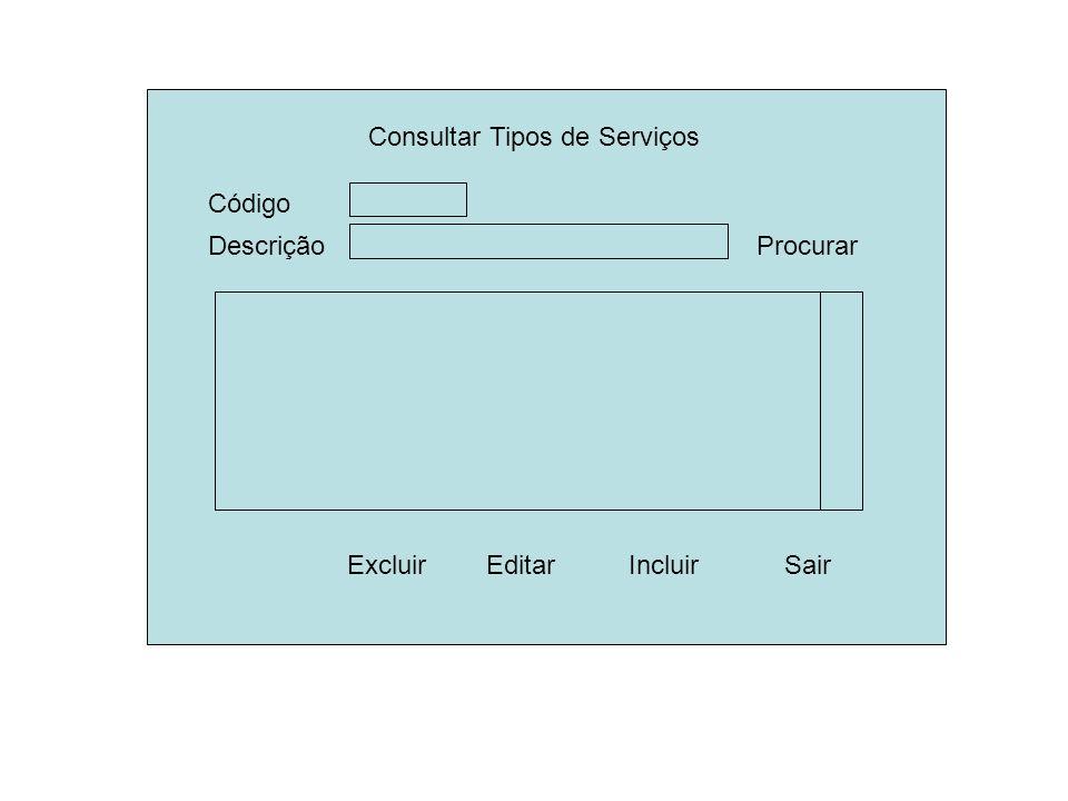 Consultar Tipos de Serviços