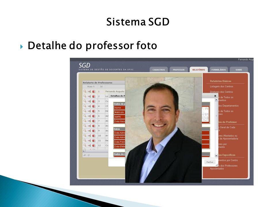Sistema SGD Detalhe do professor foto