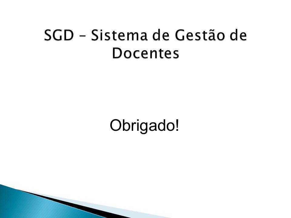 SGD – Sistema de Gestão de Docentes