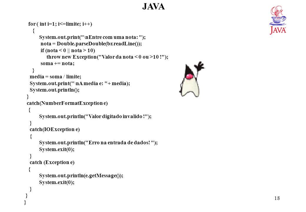 JAVA Uso do teclado para entrada de dados usando a classe Scanner (JDK 1.5)