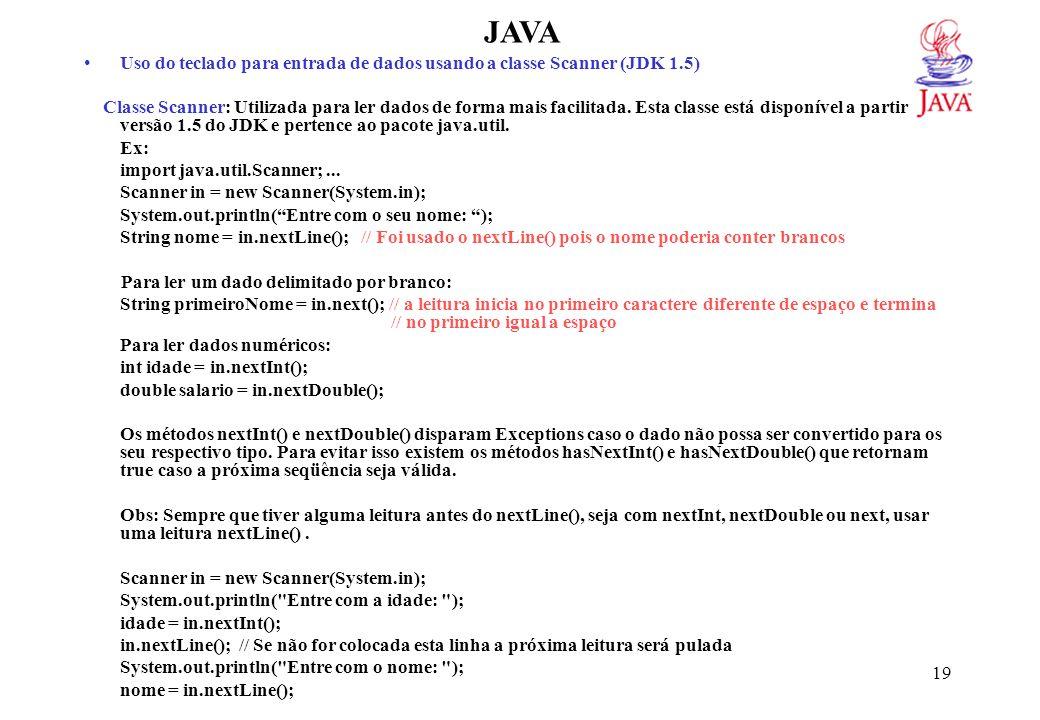 JAVAFunções Matemáticas: Estas funções em Java são provenientes de métodos da classe Math do pacote default java.lang definidos como static.