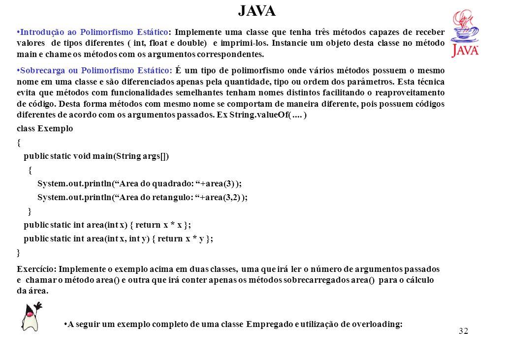 JAVA // CLASSE EMPREGADO import java.util.*; class Empregado {