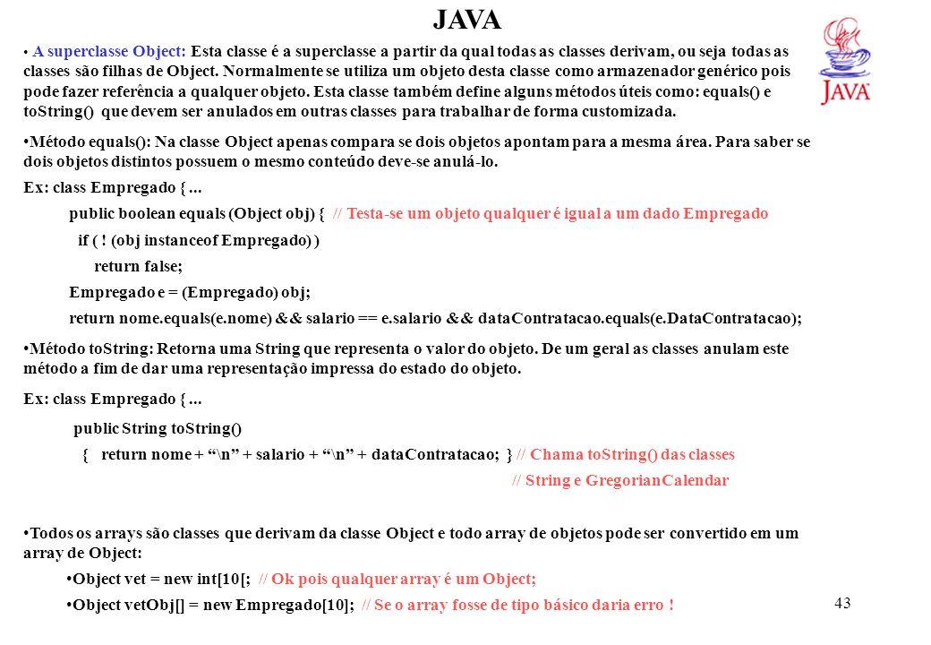 JAVAEx. Um método para localizar um objeto de qualquer classe em um array de objetos também de qualquer classe.