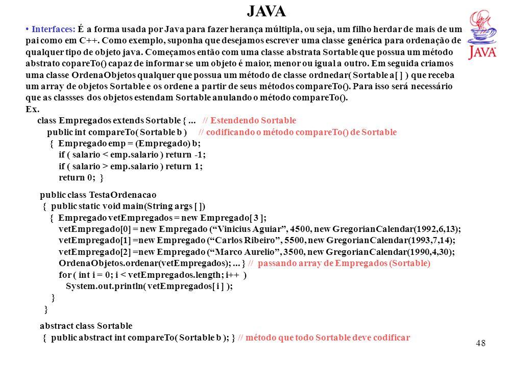 JAVA import java.util.*; class OrdenaObjetos {