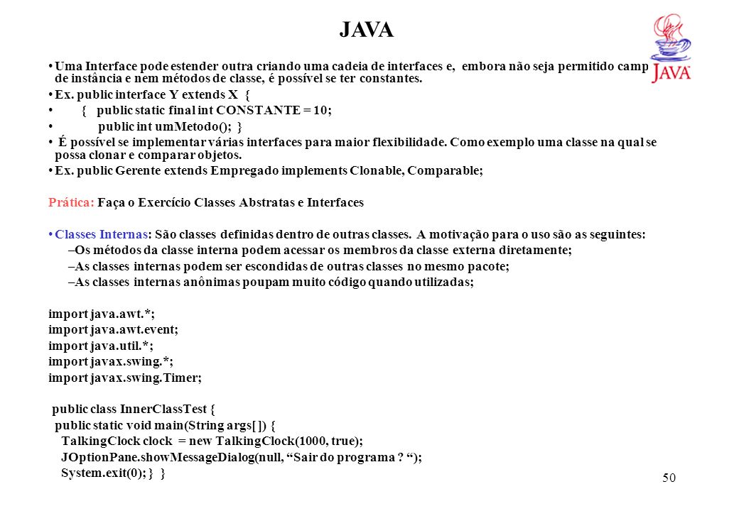 JAVA class TalkingClock { private int interval; private boolean beep;