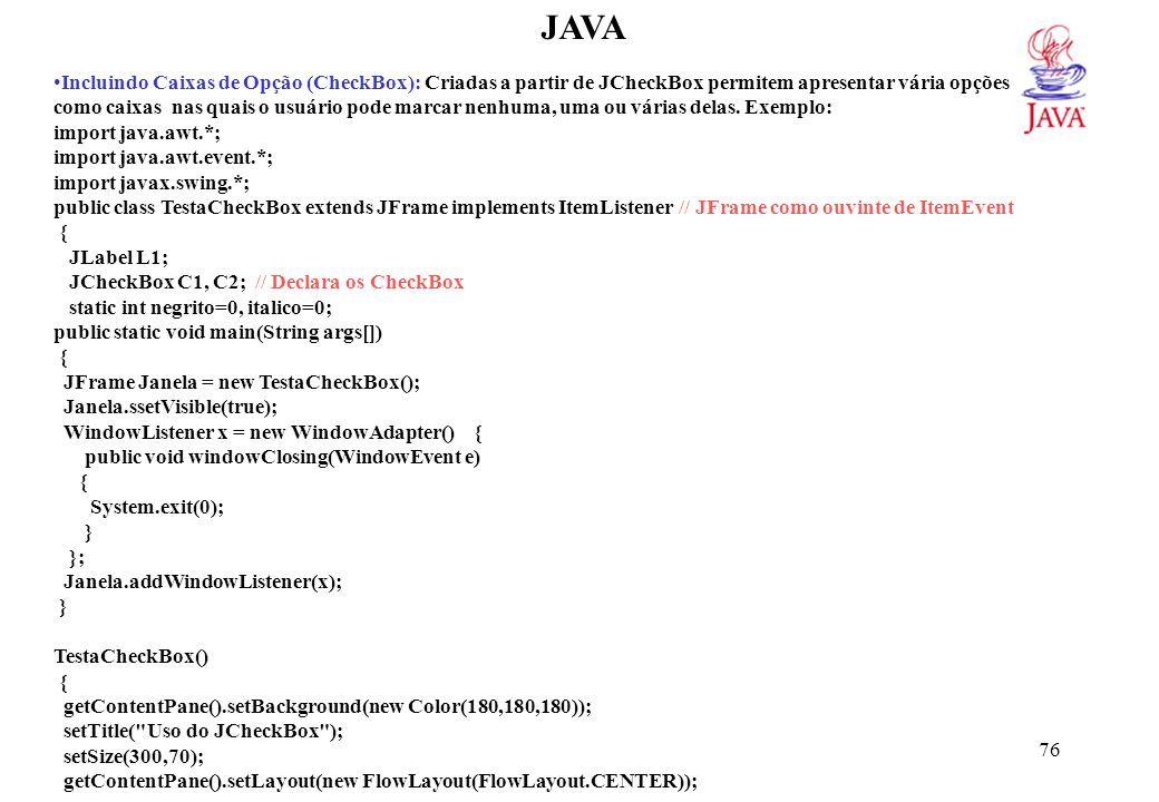 JAVA L1 = new JLabel( Java );