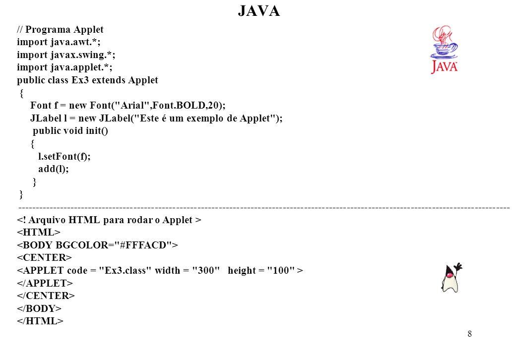 JAVA Compilação e Execução: