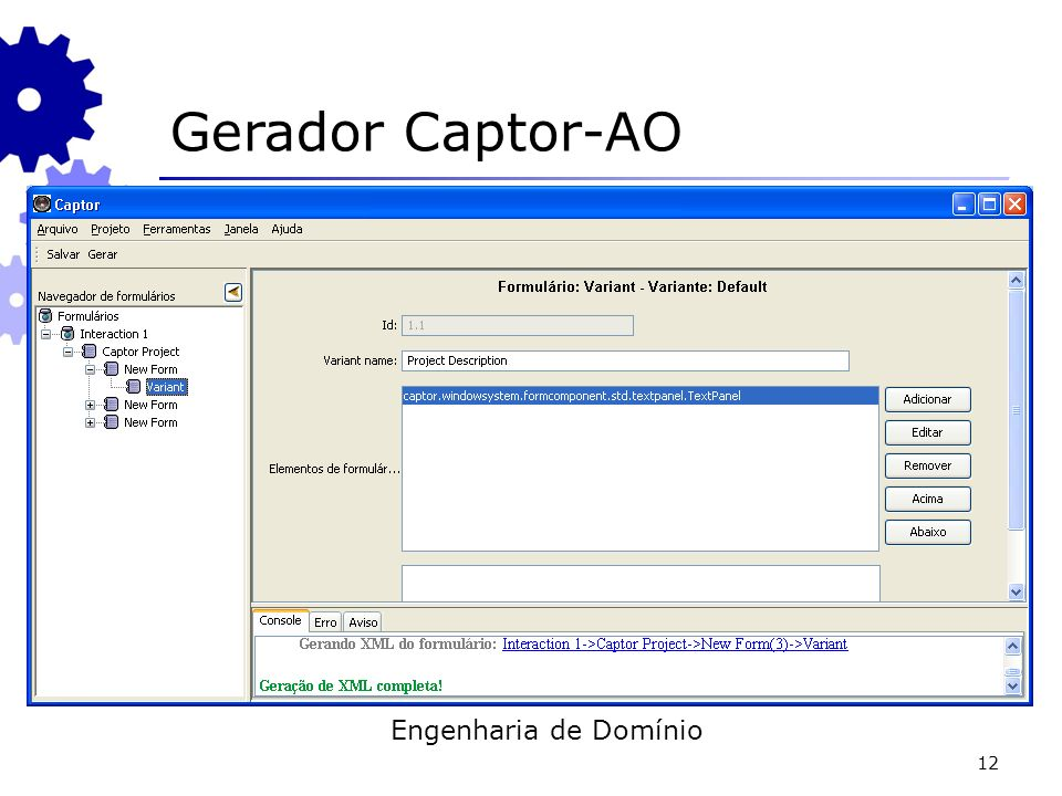 Gerador Captor-AO Engenharia de Domínio