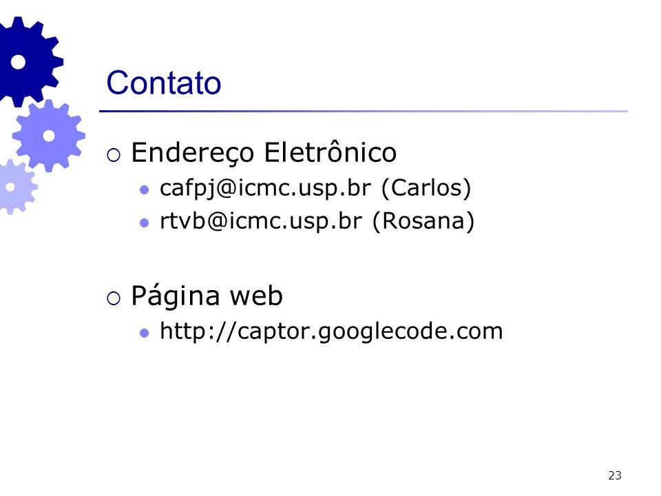 Contato Endereço Eletrônico Página web cafpj@icmc.usp.br (Carlos)