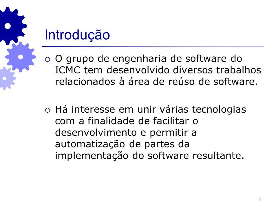 Introdução O grupo de engenharia de software do ICMC tem desenvolvido diversos trabalhos relacionados à área de reúso de software.