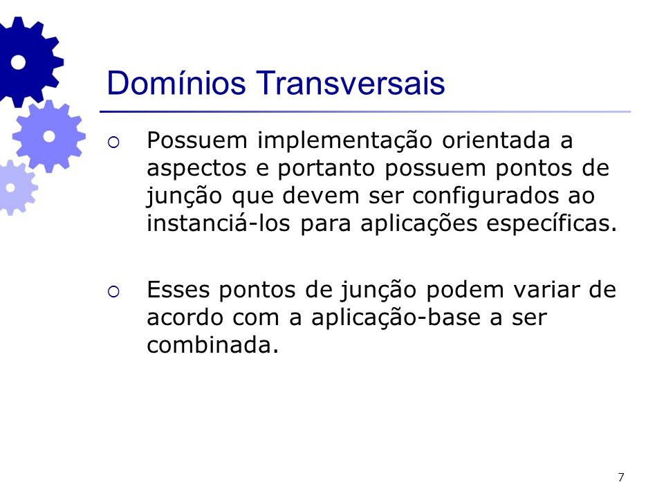 Domínios Transversais