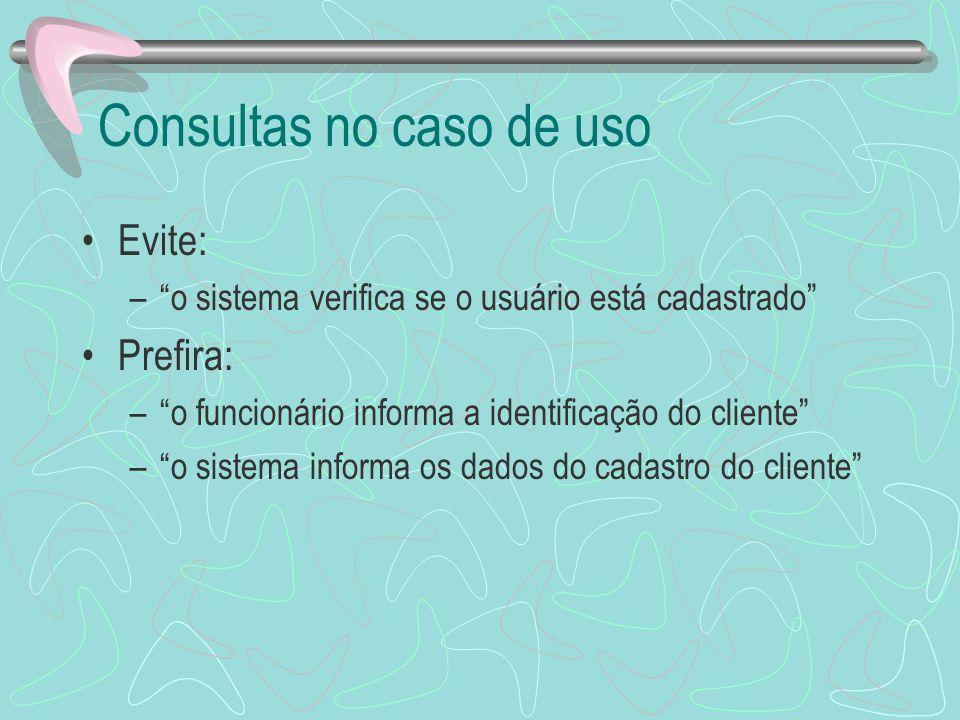 Consultas no caso de uso