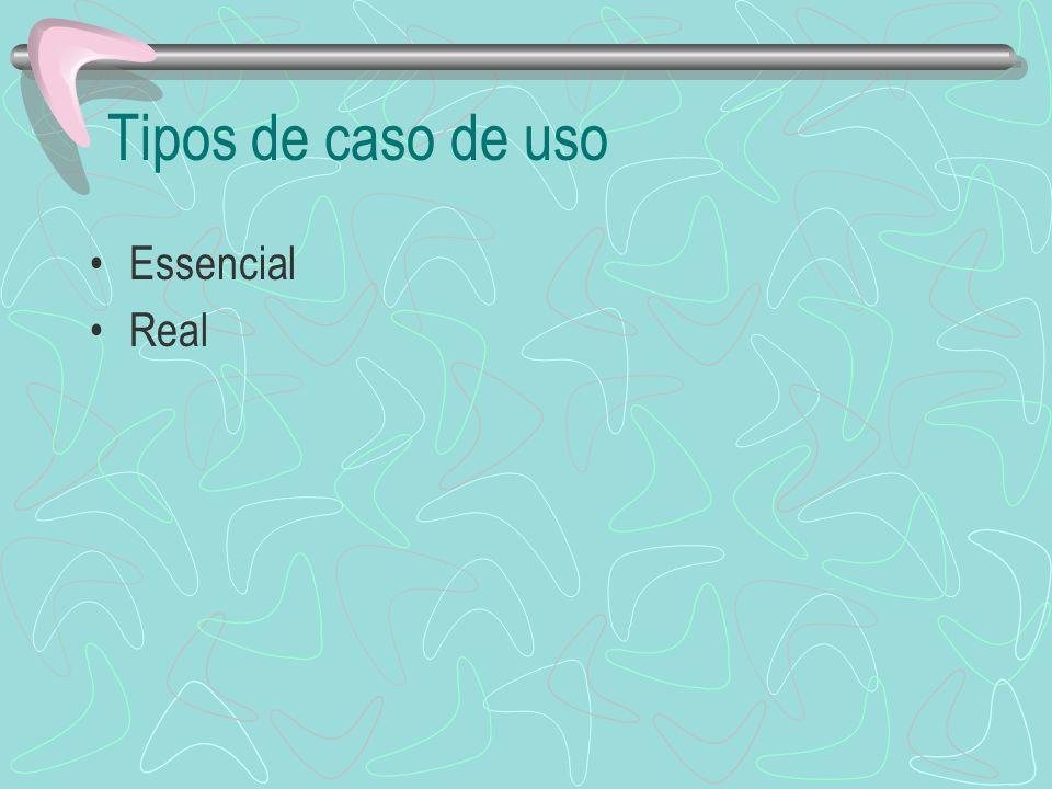 Tipos de caso de uso Essencial Real